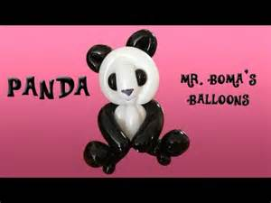 Panda balloon animal tutorial balloon twisting amp modeling 16 youtube