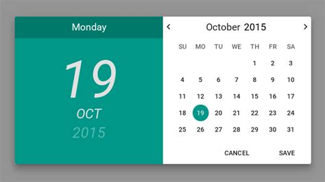 material design calendar html material design modal datepicker calendar for angularjs