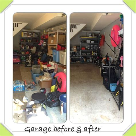 before and after organizing garage organizing before after clean and orderly