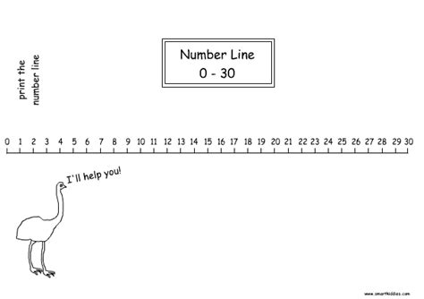 printable number line up to 25 number line to 30 mathematics printable numbers print