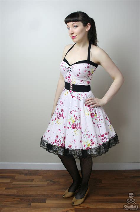 floral yvonne retro rockabilly swing dress by smarmy