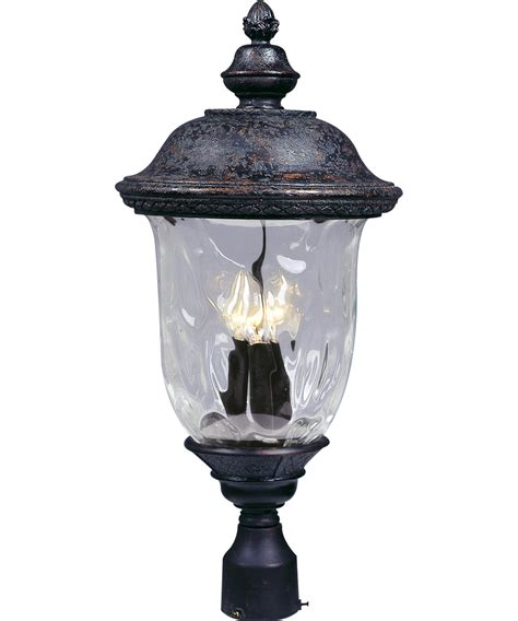 Carriage Outdoor Lights Maxim Lighting 40420 Carriage House Vx 13 Inch Wide 3 Light Outdoor Post L Capitol Lighting