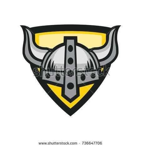 Viking Helmet Shield Vector Logo Template Stock Vector 736647706 Shutterstock Helmet Shield Template