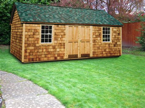 Wooden Roof Shingles For Sheds by 12 X 20 Cedar Wood Cape Cod Cc 16 Portable Buildings