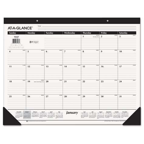 At A Glance Desk Calendar At A Glance Desk Calendar Whitevan