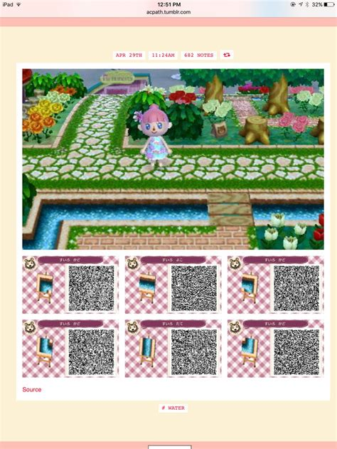 water essential pieces acnl qr code paths acnl paths