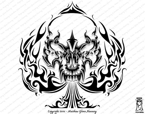 skull spade tattoo designs free downloadable designs wallpaperpool