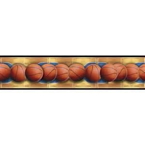 Home basketballs across the basketball court peel amp stick wallpaper