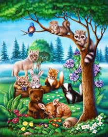 forest friends mural