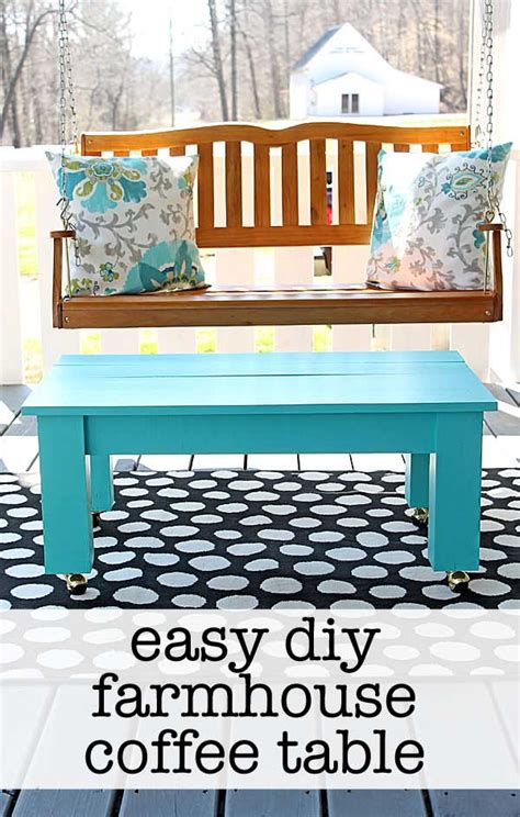 Farmhouse Desk by Easy Farmhouse Style Diy Coffee Table
