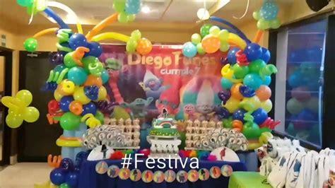 decoracion trolls decoraci 243 n de fiesta inspirada en trolls trolls party