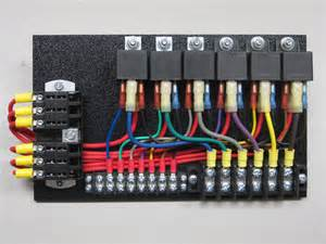 6 relay panel w push ons ce auto electric supply