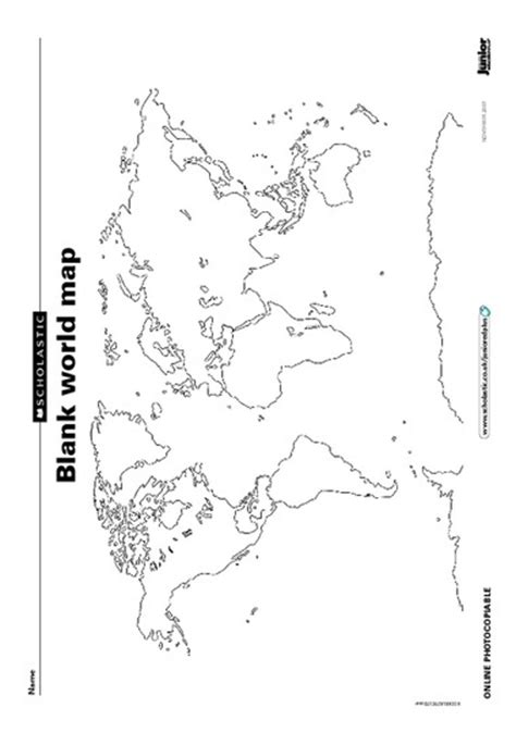 printable world map for school blank world map home schooling ideas pinterest