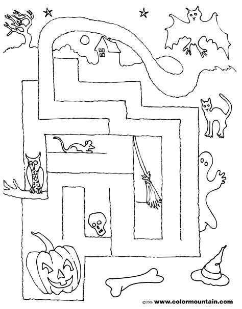 halloween coloring pages mazes halloween maze coloring page create a printout or activity