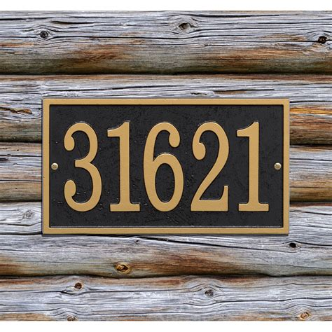 house address plaques home address plaque rectangle fast and easy in house number plaques