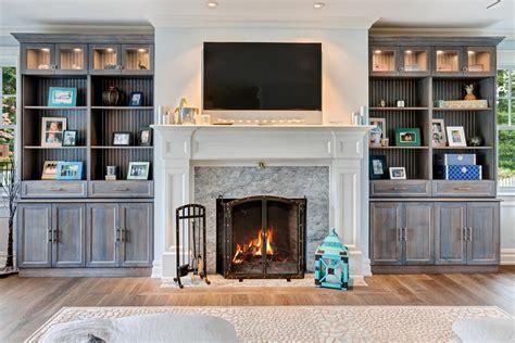 custom built ins around fireplace wall units glamorous custom built in cabinets built in