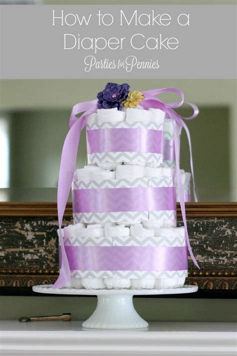 How To Make A Cake From Diapers For Baby Shower by Cake Tutorial For Pennies