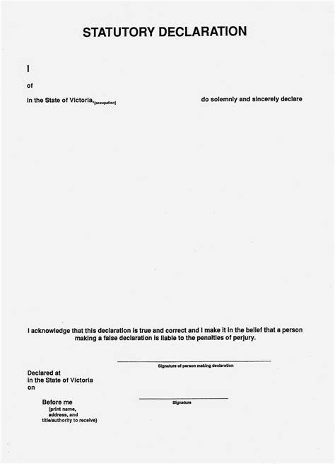 statutory declaration template corporate australia 7 20 14 7 27 14