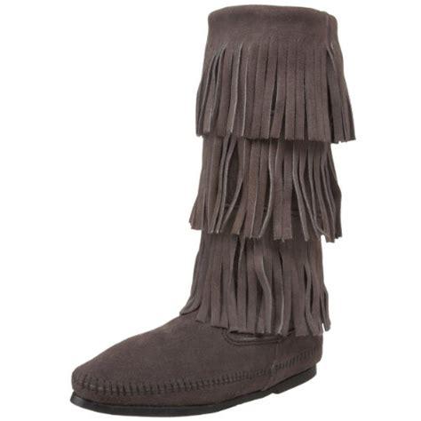 fringe boots cheap buy best minnetonka s 1632 3 layer fringe boot on