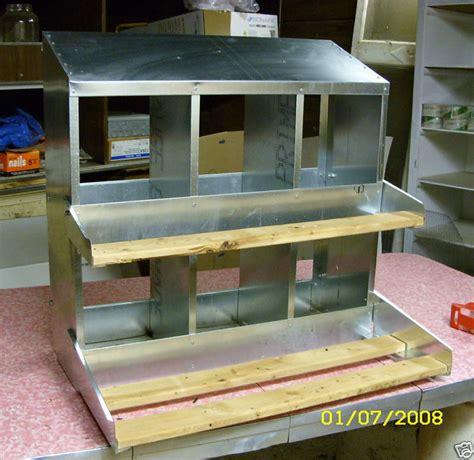 Window Nest Box - 9x6pk 6 hole 9 quot x9 quot metal chicken nesting box egg new ebay