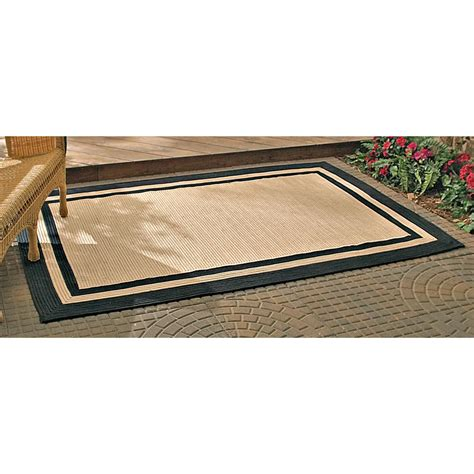 rug trim 4 10 quot x7 4 quot area rug with black trim 158343 outdoor rugs at sportsman s guide