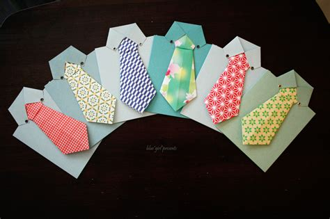 Tie Origami - blue presents blue presents