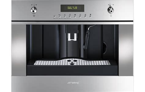 inbouw koffiemachine met vaste wateraansluiting smeg cms45x koffiemachine rvs de schouw witgoed
