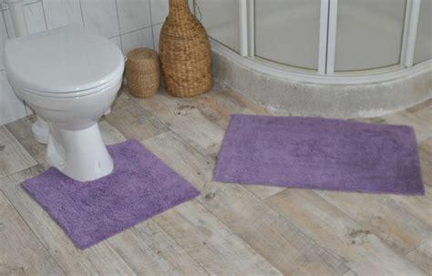 badewanne teppich flauschiger wc vorleger 2tlg aus baumwolle badvorleger