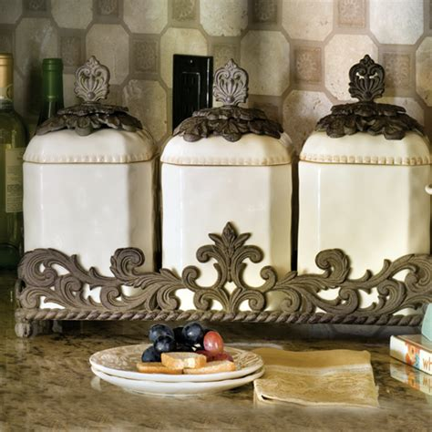 kitchen decor collections the gg collection ceramic canister set 31903