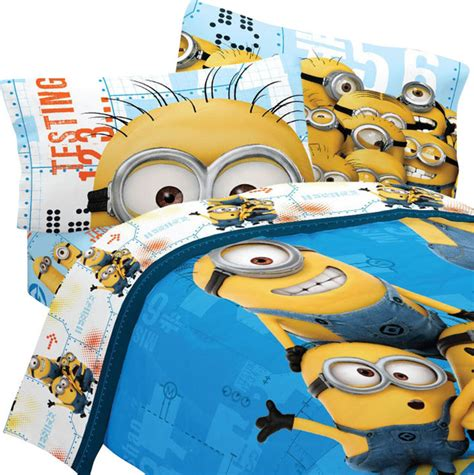 despicable me bed set despicable me twin bedding set minions testing 123 bed