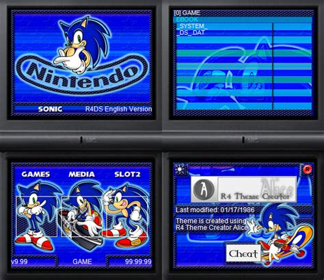theme psp sonic nds skins psp y ps3 themes nintendo ds sony psp y ps3