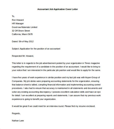 luxury sle format of cover letter for job application