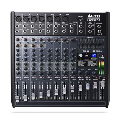 Mixer Alto alto live 1202 12 channel usb mixer with dsp at gear4music