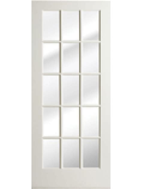 milette interior french door primed with 15 lites clear 1 3 8 quot primed interior french door 15 lite by woodgrain