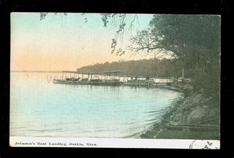 boat landing on shetek postcards donated by rick wolfe ren holland s website