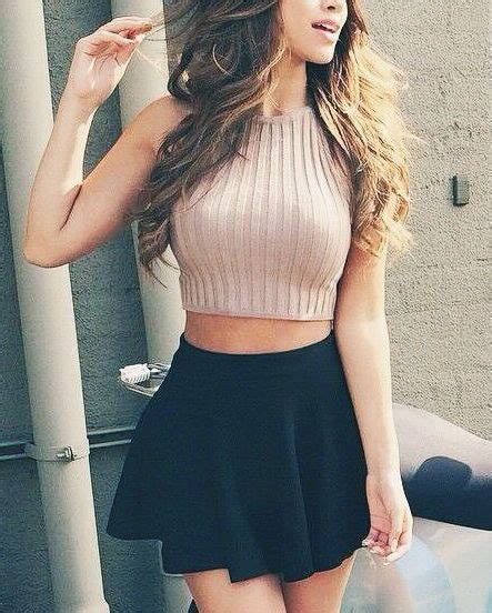 knitted crop top and skirt 20 styles to wear crop tops and skirts for summer pretty