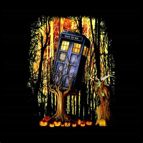Red White Blue Duvet Cover Dr Who Tardis Cannot Escape Halloween Witch Bedding