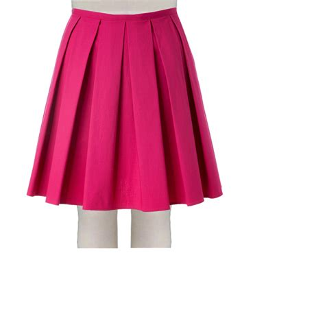 pink stretch cotton boxed pleated skirt elizabeth s