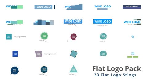 flat design after effect project flat logo pack after effects template videohive
