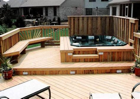 bathtub deck ideas hot tub decking ideas pool design ideas