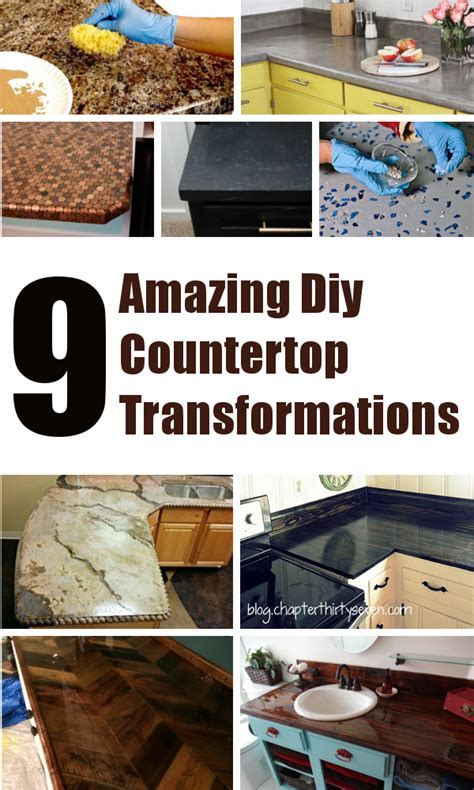 diy home sweet home 9 amazing diy kitchen countertop ideas