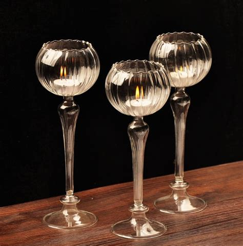 Candle Holders Home Decor Aliexpress Buy Glass Candlestick Weeding