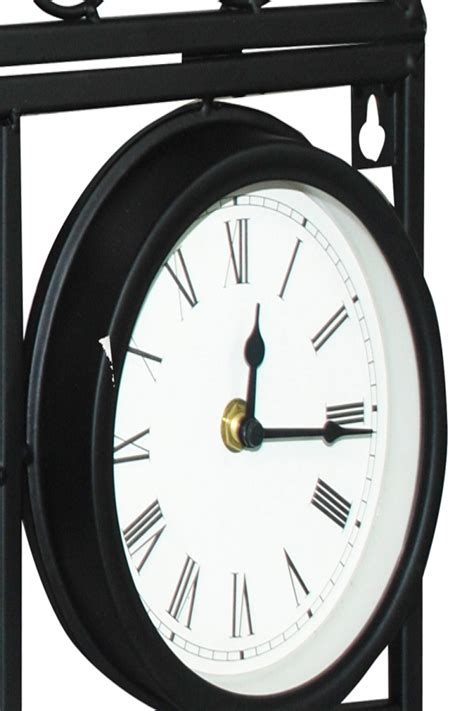 kingfisher decorative wall planter clock and thermometer