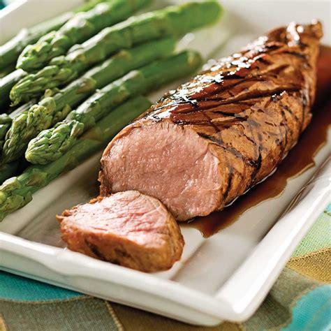 cuisiner l 馗hine de porc filets de porc marin 233 s au balsamique et 233 rable recettes