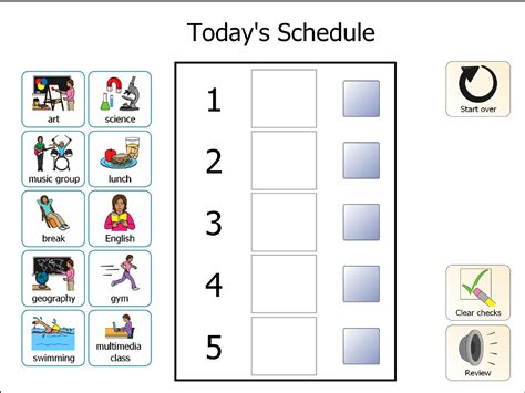 printable daily schedule for autistic child free printable visual schedule calendar template 2016
