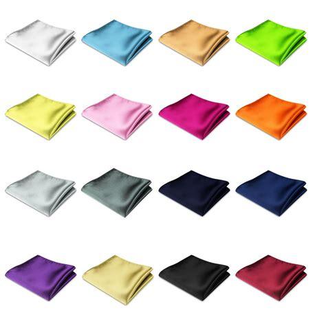 hanky colors mens satin pocket square plain wedding suit