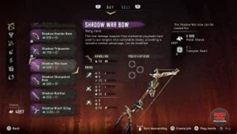 tutorial war bow horizon horizon zero dawn best weapons where to find shadow weapons