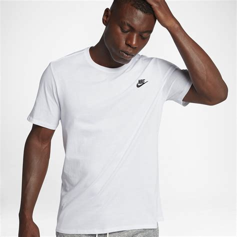 Nike Get T Shirt nike mens sportswear t shirt white black fitnessnuts