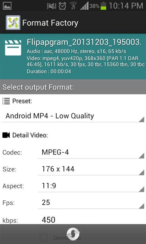 format factory portable para android format factory la aplicaci 243 n para convertir audio y v 237 deo