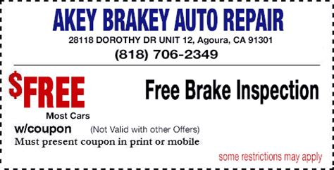 Brake And Light Inspection Cost by 31 95 Smog Test Agoura
